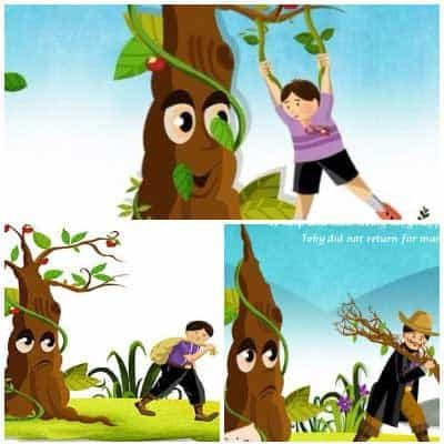 The Boy and The Apple Tree Story