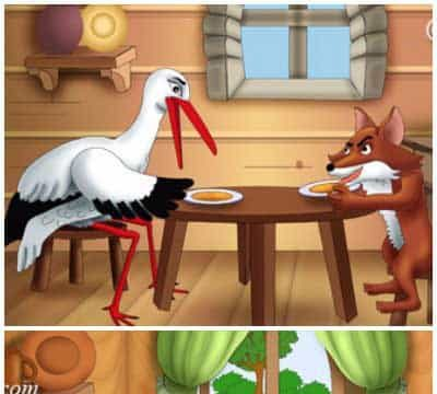The Fox and The Stork Story