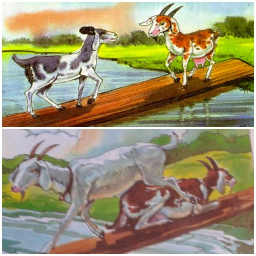 The Two Goats Story | Very Simple Short Moral Stories