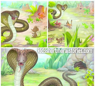 The King Cobra And The Ants Moral Story