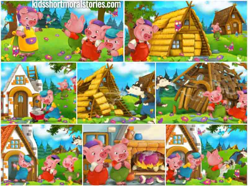 The Three Little Pigs Story For Kids