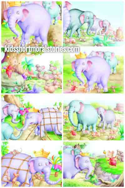 Panchatantra Short Stories for Kids - Elephant and Mice Story