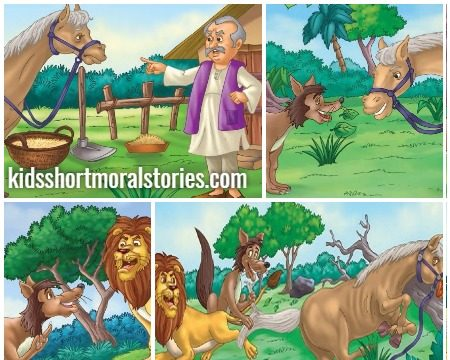 The Poor Horse and the Lion Story - Panchatantra Story