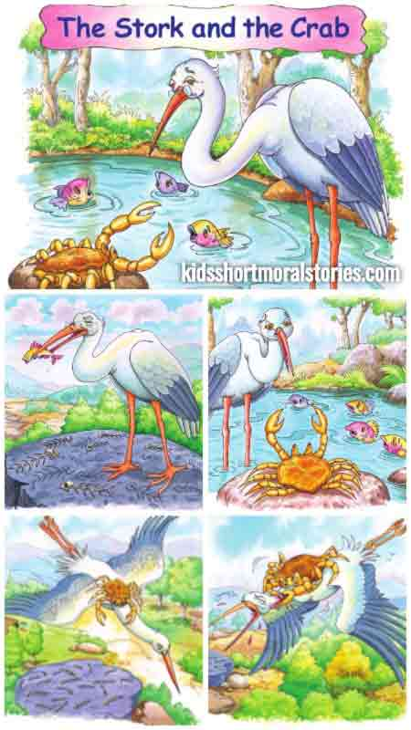 The Stork and The Crab Story with Moral | Short Stories from Panchatantra