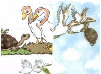 The Tortoise And The Geese Story With Pictures