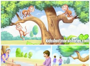 The Carpenter and the Monkey Story with illustration