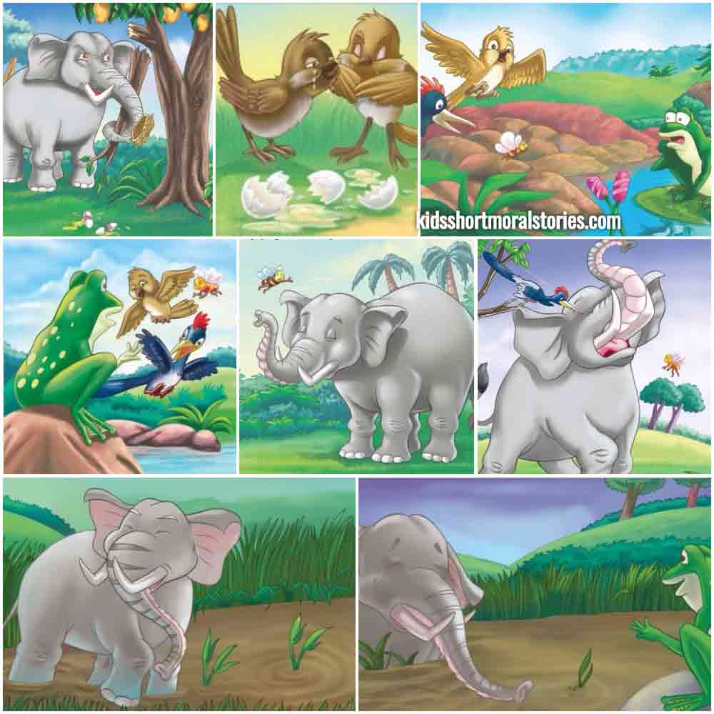 The Elephant and the Sparrow Panchatantra Story