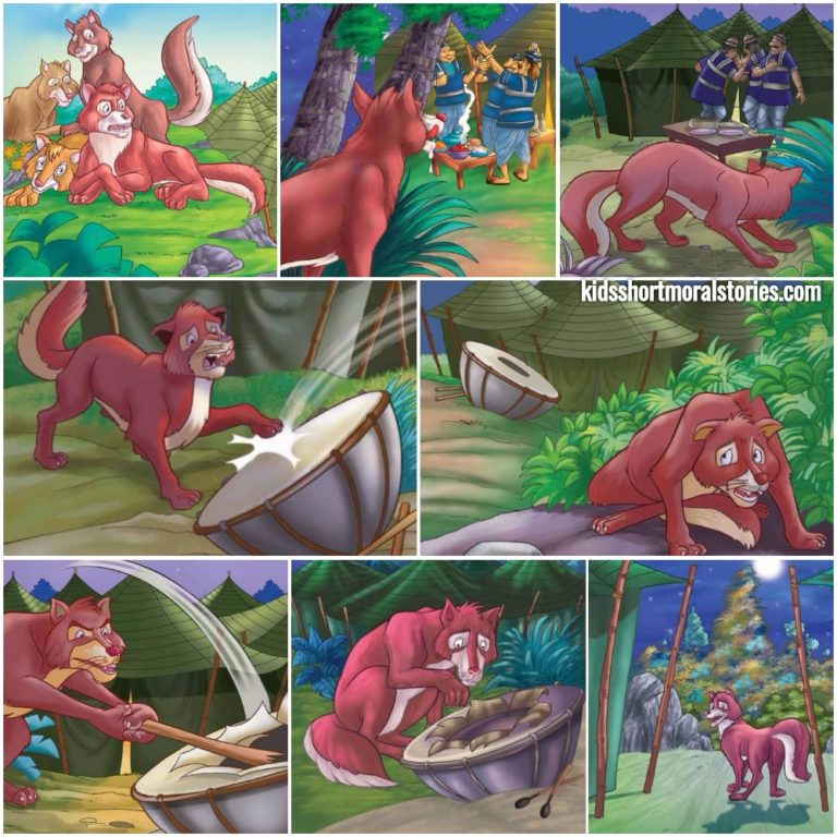 The Jackal and the Wardrum Panchatantra Story With Pictures
