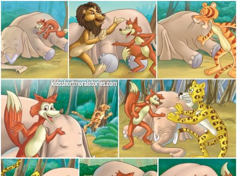 The Jackal's Quick Thinking Story - Panchatantra Stories For Kids