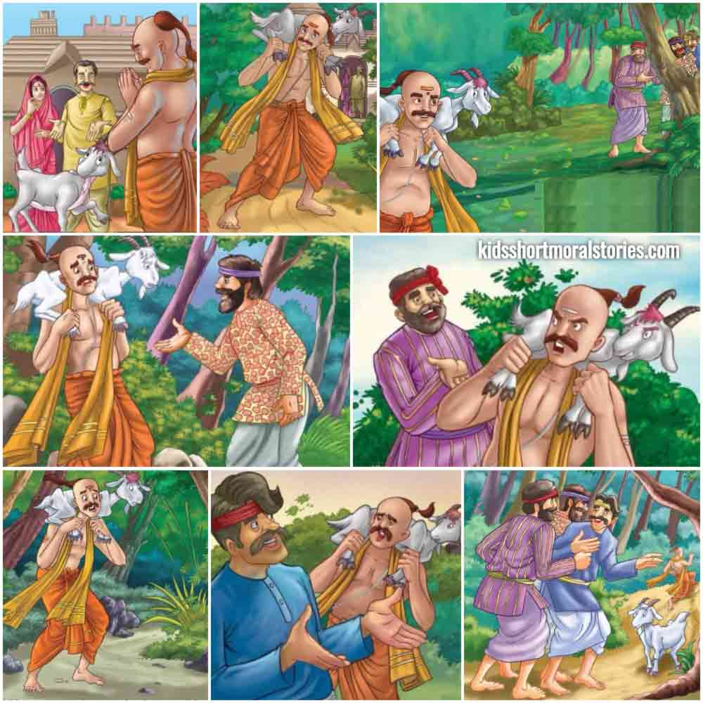 The Three Crooks and The Brahmin Story | Stories of Panchatantra