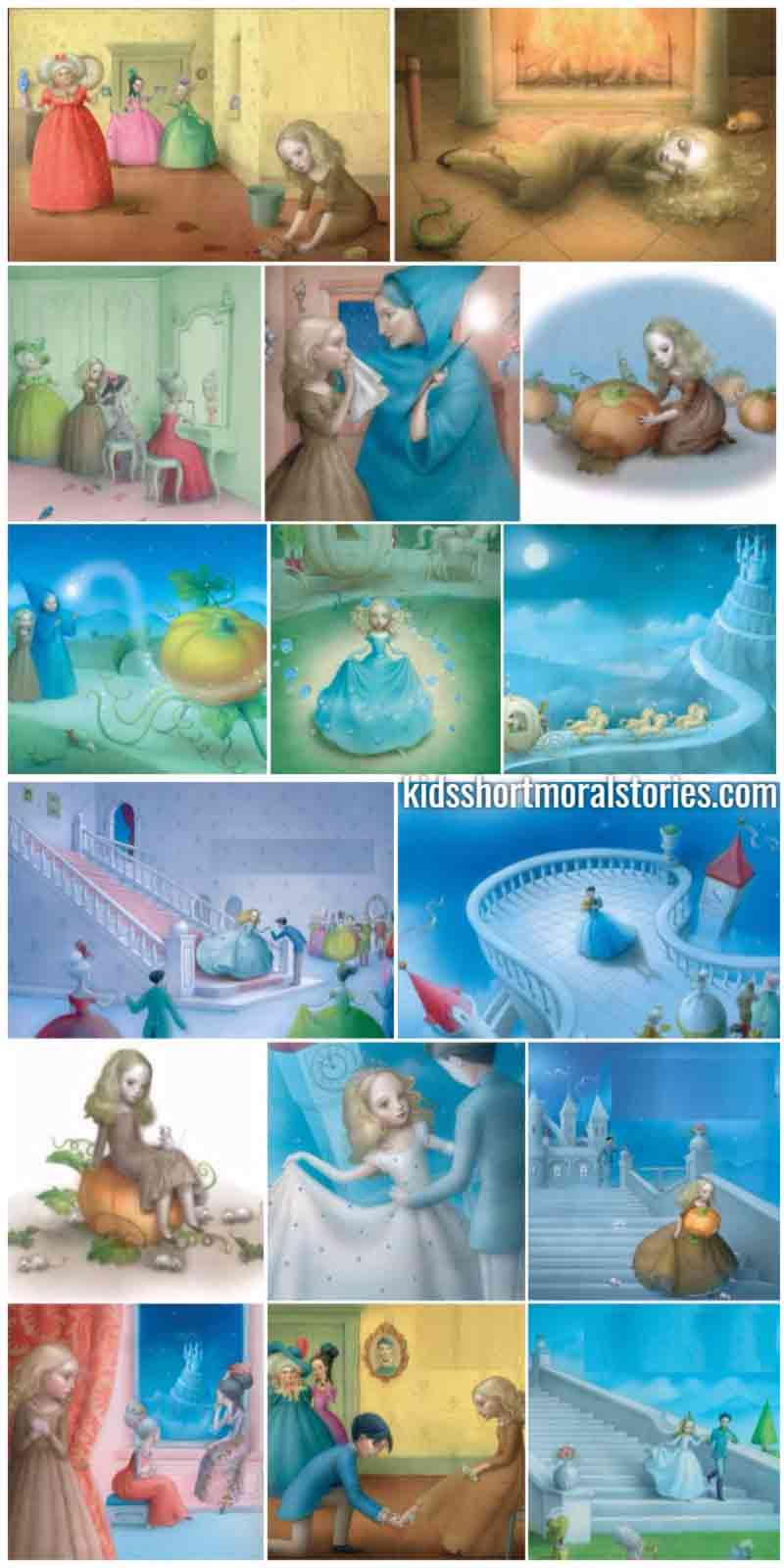 Cinderella Short Story - Classic Fairy Tales For Kids