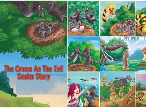 The Crows and the Evil Snake - A Panchatantra Story With Moral and Pictures
