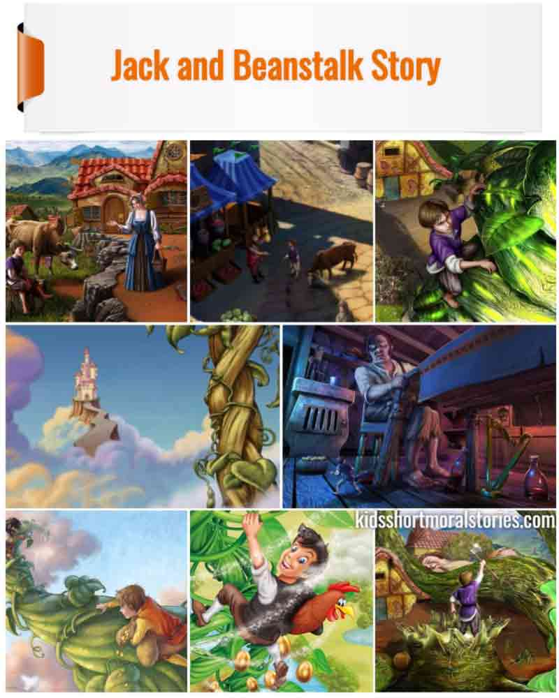 Jack and the Beanstalk Story | English Short Stories for Kids