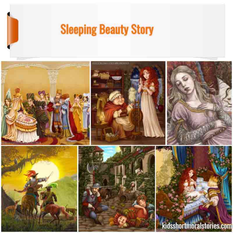 Sleeping Beauty Short Story With Pictures | Short Fairy Tales For Kids