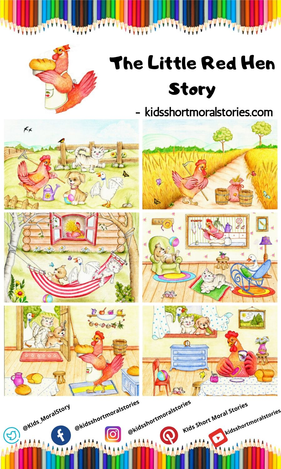 little red hen short story with moral